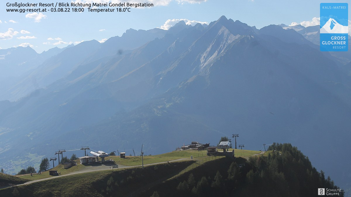 Webcam Großglockner Resort Matrei in Osttirol  Bergstation (2.190 m) © www.gg-resort.at